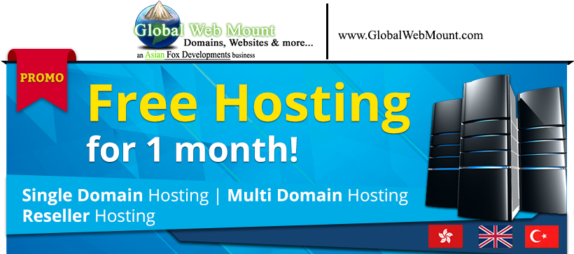 Global Web Mount - Get Free Hosting for 1 Month!