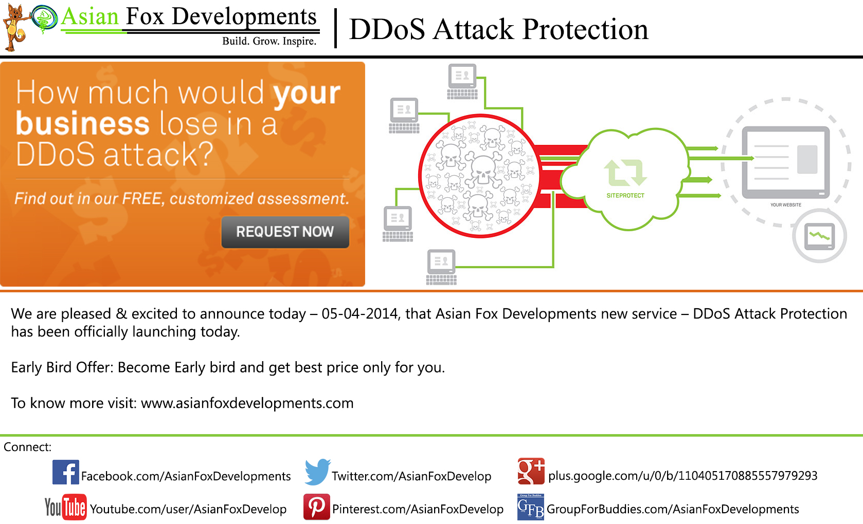 Asian Fox Developments - DDoS Attack Protection