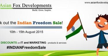 Asian Fox Developments - Indian Freedom Sale - 2015