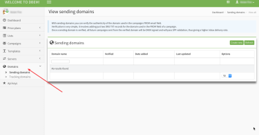 DBEM Designer Bulk Email Marketing - New Feature - Sending & Tracking Domains Management