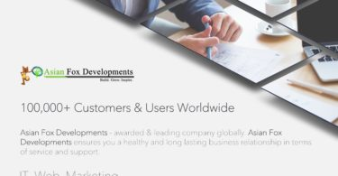 Asian Fox Developments - 17-06-2017 - Software Development, Website Designing, Email Marketing, SEO, SMO, SEM, SMM, Digital Marketing, Hosting, Domains, Website Maintenance, DDoS Attack Protection